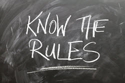 know the rules written on blackboard