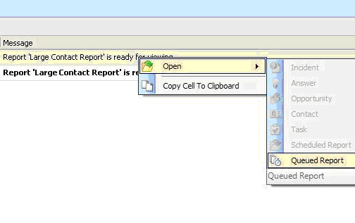To open, double click or right click on the report you wish to open.