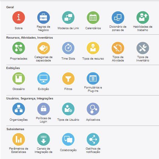 Configuração> Tipos de Usuário