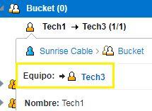 Sugerencia de recurso en el Árbol de Recursos muestra Tech3 asistiendo Tech2