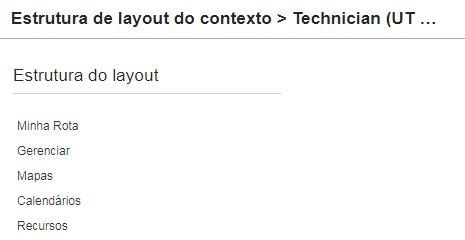 Configuração > Tipos de Usuário> Telas do Aplicativo > Menu Principal. Minha Rota está adicionada na configuração.