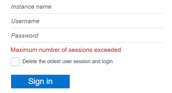 Configuração > Exibição. Parâmetro E-mail para redefinição de senha possui valor Endereço de e-mail
