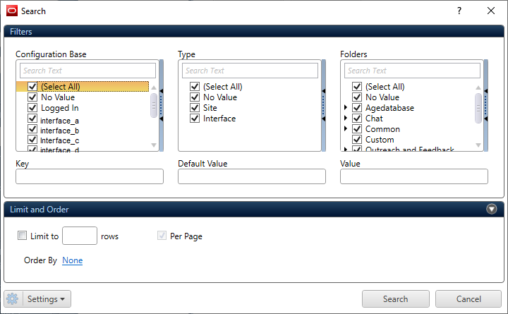 Configuration Editor Window