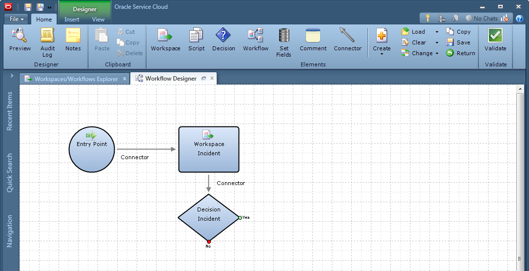 Workflow Designer in Oracle B2C Service