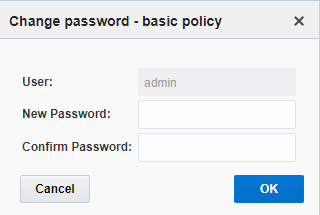 Resource > Users > Change Password. Enter new password and confirm password