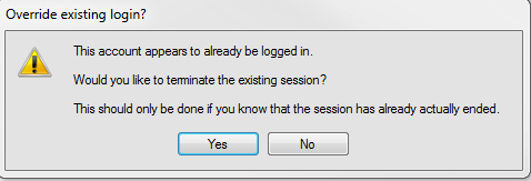 Illustration of Override existing login alert message