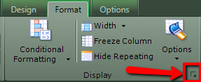 In the Format section of the ribbon, will be the option to expand that area to see more options