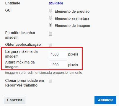 """Configuração> Propriedades > encontrar a propriedade doarquivo de""""Imagem""""o qual você deseja ajustar> clicar Ver ou Modificar"""