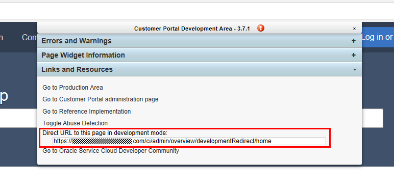 "Expand Links and Resources, then note the URL under ""Direct URL to this page in development mode"