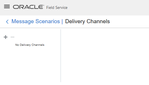 Message Scenarios > Channels. OFS Email is not listed.